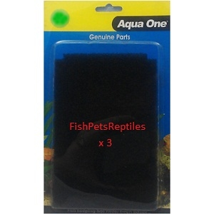 Aqua One Internal Filter Sponge Foam 27s Bulk Buy x 3