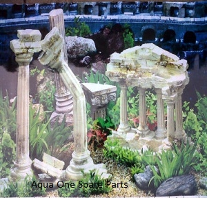 Aqua One Aquarium Greek Ruins Background 24