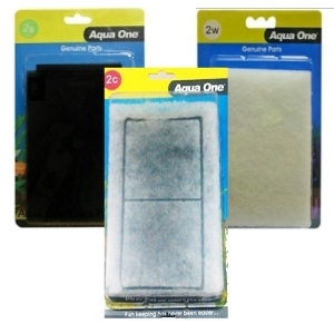 Aqua One 2c,2s,2w AquaStyle 510 Aquarium Foam Filter Set