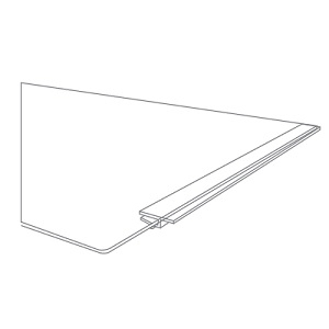 Aqua One MiniReef 120 Replacement Glass Cover Runners 53419-R