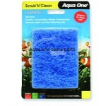 Aqua One Scrub 'N' Clean Glass Cleaning Pad Blue  Small Xpression