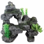 Aqua One Rock Mountain & Plants Ornament 36455