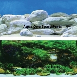 "Aqua One Aquarium Bolder Background 24"" Tall x 3ft"