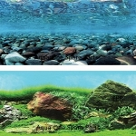 "Aqua One Aquarium River Rock Background 24"" Tall x 3ft"