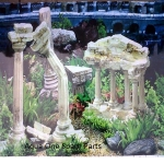 "Aqua One Aquarium Greek Ruins Background 24"" Tall x 3ft"