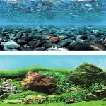 "Aqua One Aquarium River Rock Background 12"" Tall x 8ft"