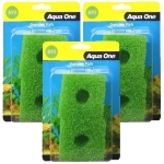 Aqua One (69s) Filter Media Replacement Sponge Bulk Buy x 3